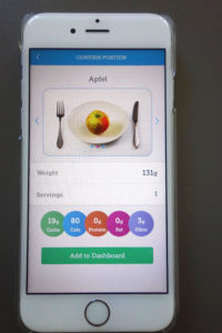 Carbs&Cals App, Inside, Food, Snacks, Apple, Nutrition Facts