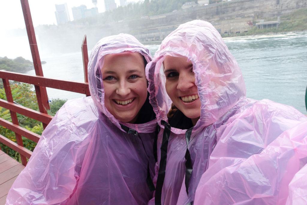 Kerry and I Niagra Falls Raincoat